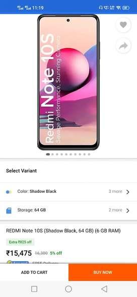 Redmi Note 10S Full Flipkart Sell pack .