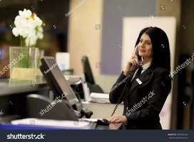 Reception job urgent hiring for male female can both apply