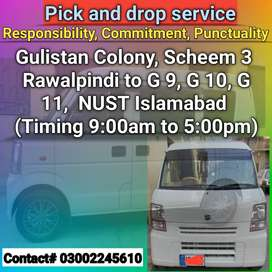Pick and drop service Rawalpindi to Islamabad