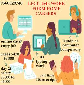Easy Data Entry Work from Home! Online Jobs, Earn 22000/- Per