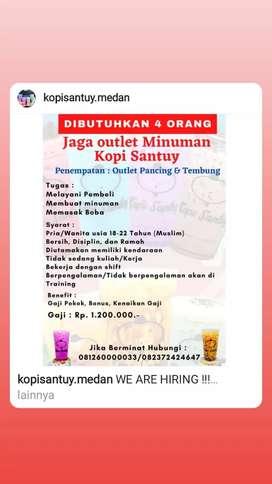 Lowongan jaga outlet minuman Kopi Santuy