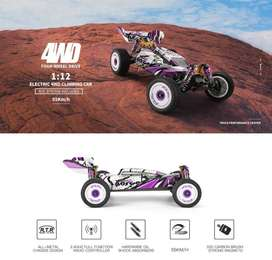 RC Car WL 124019 RC Buggy Metal Chassis 1/12 4WD 60km/h RTR