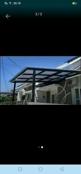 Kanopi untuk atap carfot dan belakang rumah