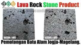 Hiasan dinding batu alam lava rock