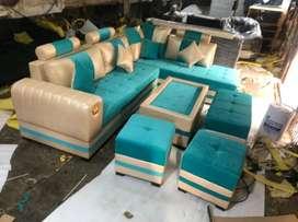 Free Delivery: L shape sofa complete set