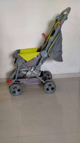 Gently used baby stroller for sale! -Grey & Green