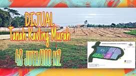 tanah murah dijual kavlingan 48jt /100 M²