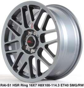 jual velg baru RAI-S1 HSR R16X7 H8X100-114,3 ET40 SMG