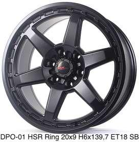 Harga velg DPO-01 HSR R20X9 H6X139,7 ET18 SATIN BLACK
