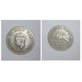 Indian old rupe coin 1947