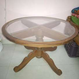 A round glass table