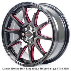 ASSASIN JD5907 HSR R17X75 H8X100-114,3 ET40 BK-RED
