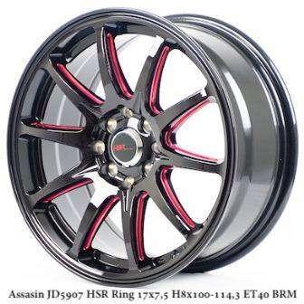 ASSASIN JD5907 HSR R17X75 H8X100-114,3 ET40 BK-RED 0