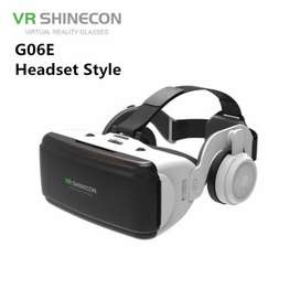 Original VR Virtual Reality 3D Glasses with headphone Free Delivery