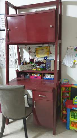 Study table with book shelf( price negotiable)