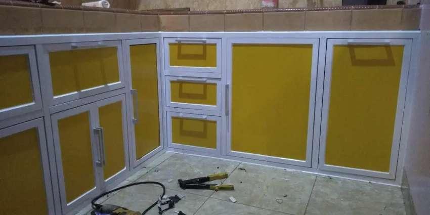 Ready stok kitchen set aluminium anti karat 0