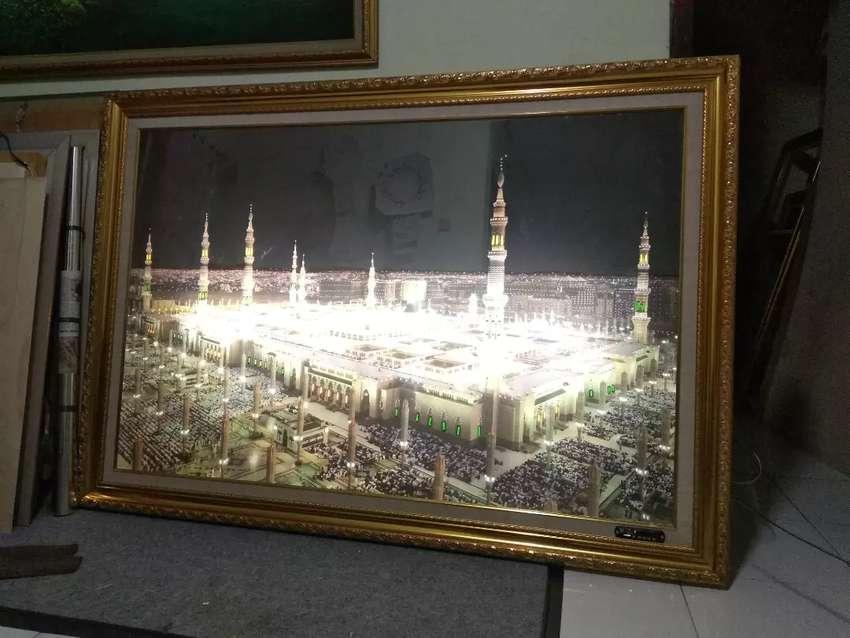 kaligrafi 1,5 mtr x 1mtr 30juzz murotal alquran Ka'bah/Madinah 0