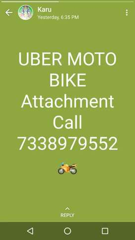 Uber bike attachment  boys  full time and part time