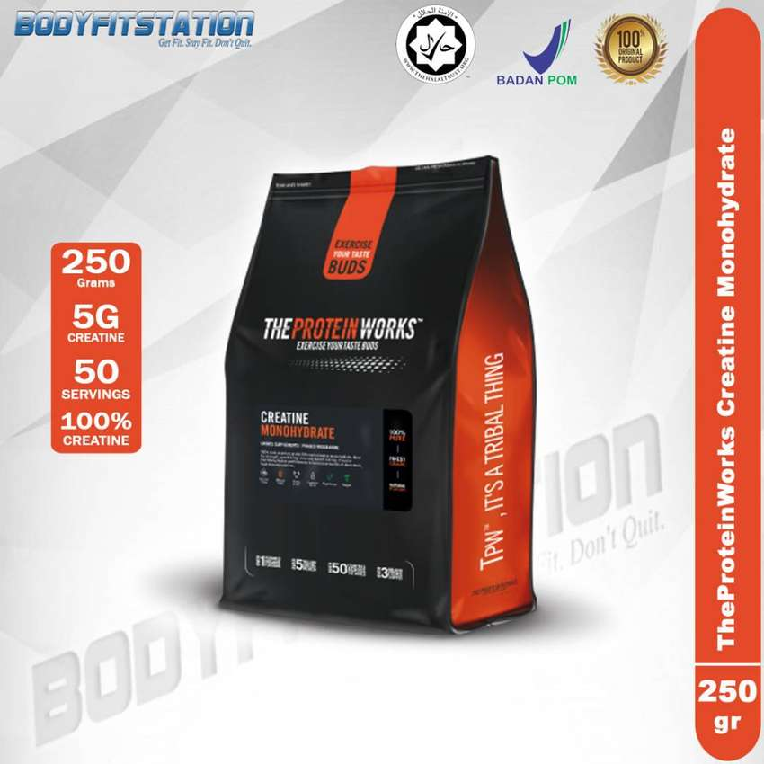 The Protein Works Creatine 250 Grams / bubuk g powder theproteinworks