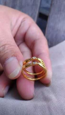 Cincin perak Berlian couple