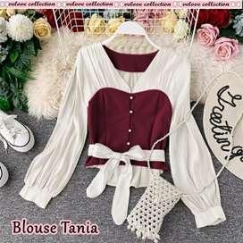 Baju Y6 - Blouse tania 4warna