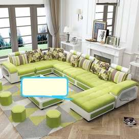 Mia leather sectional brand new sofa set sells whole peice