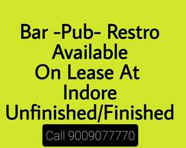 BAR And RESTAURANTS available on lease At Indore