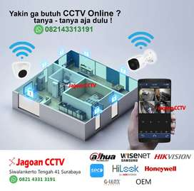 CCTV Online Handphone gratis Kabel 80 meter dan Pemasangan Bergaransi