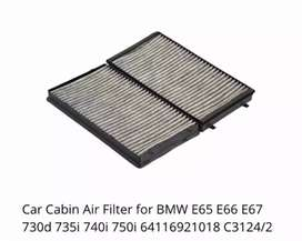 Bmw 7 series E65 AC Cabin air filter 2003 model onwards brand new