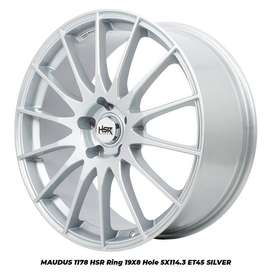 velg new,MAUDUS 1178 HSR R19X8 H5X114,3 ET45 SILVER
