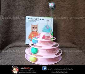 Cat playing tower toy