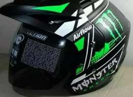 Helm sni hijau mulus