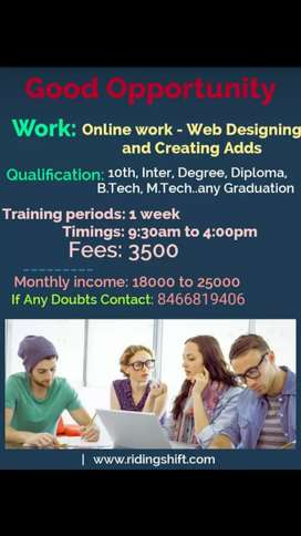 online work for male and female