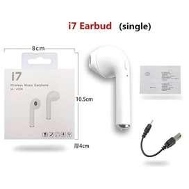 Earphone Handsfree Headset Bluetooth i7s Single Wireless Mic