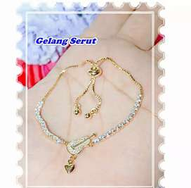 Xuping Gelang serut guitar gold
