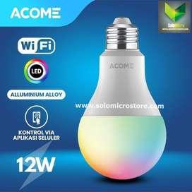 Acome Lampu Bohlam Smart WIFI LED 12W Watt RGB Garansi Resmi Acome