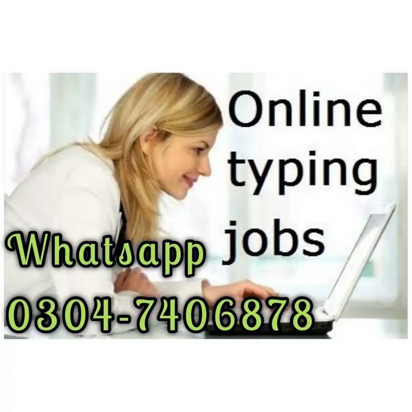 Online job typing Everyone apply. 4572 0
