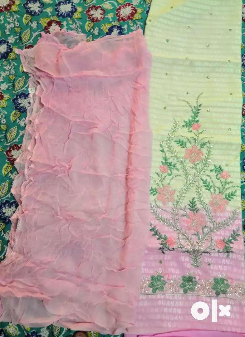 Cotton cool pink suit 0