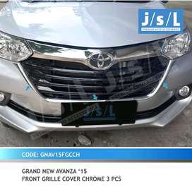 grand  avanza 15 front grille cover chrome 3 pcs