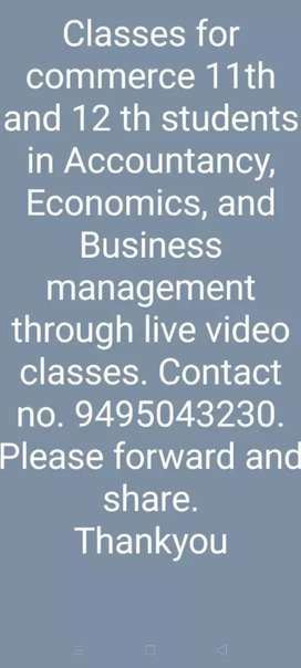 Online video classes (tution )