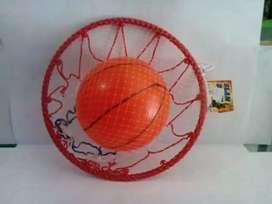 Mainan bola dan ring basket