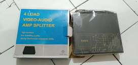 Audio video 4 load spliter amp