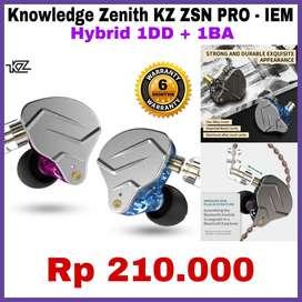 Knowledge Zenith KZ Earphone Wireless (Kabel) Original Garansi 6 Bulan