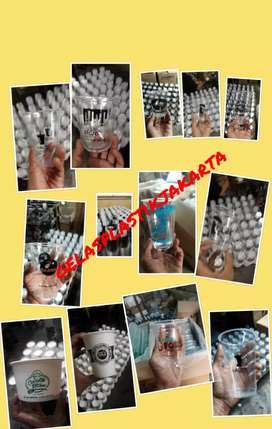 Sablon/printing GELAS thai tea (GELAS CUP PLASTIK PP) 14oz 7gram
