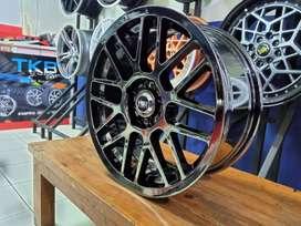 Velg Mobil Hyundai Avega Honda Jazz Ring 17 RAI-S1 HSR Black Chrome
