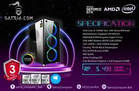 PC DESIGN intel Core i3 10100 GEN 10/SSD/HDD/GTX1650/GRS 3 TAHUN