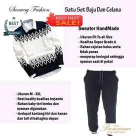 AM00248 Celana Setelan Satu set Sweater dan celana jogger