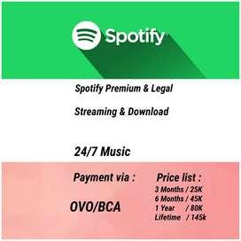Spotify premium Bulanan/setaun/lifetime