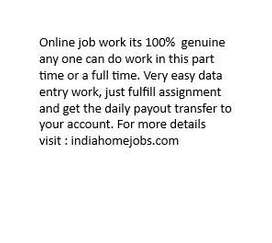 work from home, part time or full time without any investment or witho