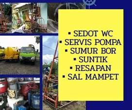 Service servis pompa air sedot wc ahli sumur bor suntik gali resapan
